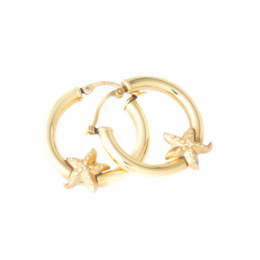 Starfish Gold Hoop Earrings