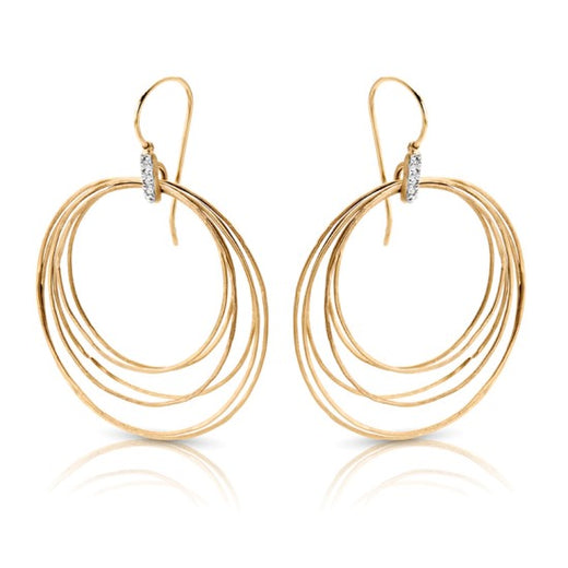 Gold Dangle Diamond Accented Earrings (RGJS1ER222) Side
