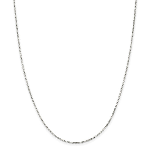 Beveled Oval Cable Chain Sterling Silver (RGJQCA050)