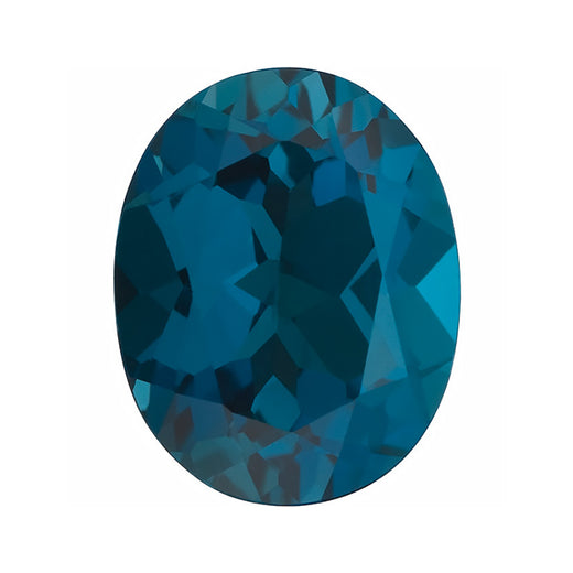 Loose London Blue Topaz Gemstone (RGJ-London-Blue-Topaz) Oval