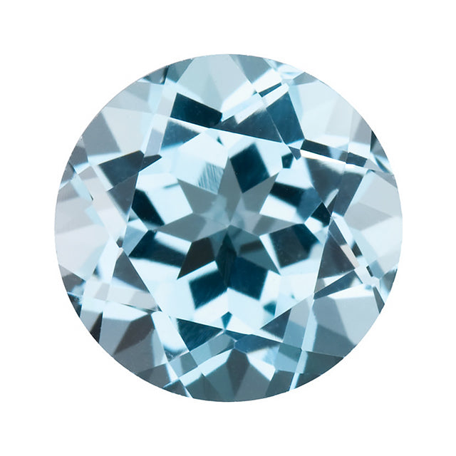 Loose Sky Blue Topaz Gemstone Round