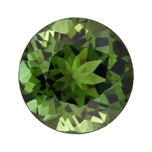 Loose Green Tourmaline Gemstone Round