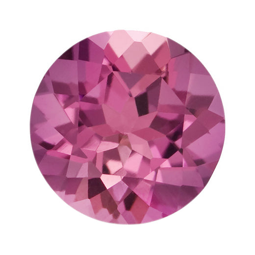 Loose Pink Tourmaline Gemstone Round