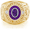 USNA Class Ring, Amethyst, Eternal MX™ Amethyst.