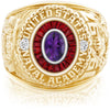 USNA Class Ring, Amethyst, Eternal MX™ Ruby.