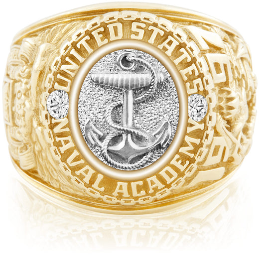 USNA Class Ring Anchors Aweigh SpecOps Package White