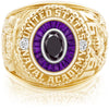USNA Class Ring, Black Diamond, Eternal MX™ Amethyst.