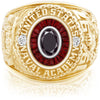 USNA Class Ring, Black Diamond, Eternal MX™ Garnet.