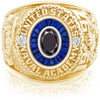 USNA Class Ring, Black Diamond, Eternal MX™ Sapphire.