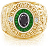 USNA Class Ring, Black Diamond, Eternal MX™ Tsavorite.