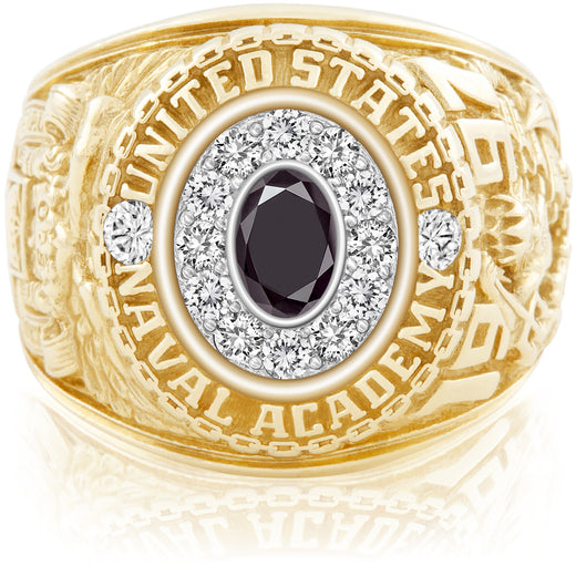 USNA Class Ring Black Diamond Pro M12™ Diamond.