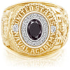 USNA Class Ring Black Diamond Pro M18™ Diamond.