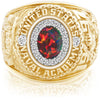 USNA Class Ring, Black Opal, ProPlus M18™ Diamond.