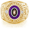 USNA Class Ring, Black Star Sapphire, Eternal MX™ Amethyst.