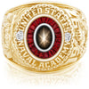 USNA Class Ring, Black Star Sapphire, Eternal MX™ Ruby.