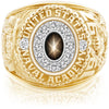 USNA Class Ring Black Star Sapphire Pro M12™ Diamond.