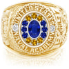 USNA Class Ring, Blue Sapphire, Pro M12™ Go Navy Low Tide Mod™.