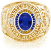 USNA Class Ring, Blue Sapphire, Pro M26™ Go Navy Low Tide Mod™.