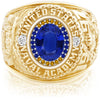 USNA Class Ring, Blue Sapphire, ProPlus M26™ Go Navy Low Tide Mod™.