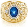 USNA Class Ring, Blue Star Sapphire, ProPlus M26™ Diamond.