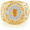 USNA Class Ring, Citrine, Pro M12™ Diamond.