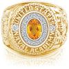 USNA Class Ring, Citrine, Pro M18™ Diamond.