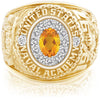 USNA Class Ring, Citrine, ProPlus M12™ Diamond.