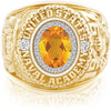 USNA Class Ring, Citrine, ProPlus M26™ Diamond.