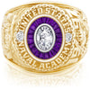 USNA Class Ring, Diamond, Eternal MX™ Amethyst.