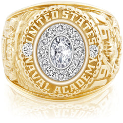USNA Class Ring, Diamond, Pro M12™ Diamond.
