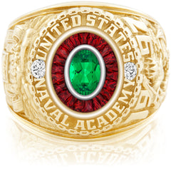 USNA Class Ring, Emerald, Eternal MX™ Ruby.