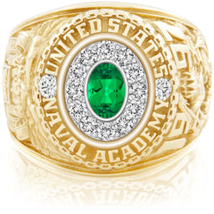 USNA Class Ring, Emerald, Pro M12™ Diamond.