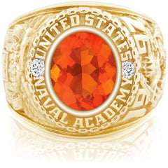 USNA Class Ring, Mexican Fire Opal, Classic M1™.