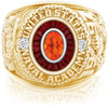 USNA Class Ring, Mexican Fire Opal, Eternal MX™ Garnet.