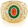 USNA Class Ring, Mexican Fire Opal, Eternal MX™ Tsavorite.