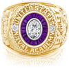USNA Class Ring, Moissanite, Eternal MX™ Amethyst.