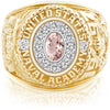 USNA Class Ring, Morganite, Pro M12™ Diamond.