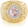 USNA Class Ring, Morganite, Pro M26™ Diamond.