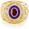 USNA Class Ring, Mozambique Garnet, Eternal MX™ Amethyst.