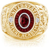 USNA Class Ring, Mozambique Garnet, Eternal MX™ Garnet.
