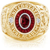 USNA Class Ring, Mozambique Garnet, Eternal MX™ Ruby.