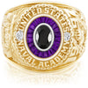 USNA Class Ring, Onyx, Eternal MX™ Amethyst.
