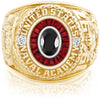 USNA Class Ring, Onyx, Eternal MX™ Ruby.