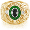 USNA Class Ring, Onyx, Eternal MX™ Tsavorite.
