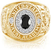 USNA Class Ring Onyx ProPlus M12™ Diamond.
