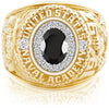 USNA Class Ring Onyx ProPlus M18™ Diamond.