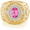 USNA Class Ring, Pink Spinel, Pro M26™ Diamond.