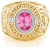 USNA Class Ring, Pink Spinel, ProPlus M26™ Diamond.