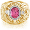 USNA Class Ring, Pink Tourmaline, ProPlus M26™ Diamond.