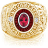 USNA Class Ring, Red Tourmaline, Eternal MX™ Garnet.